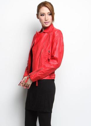 Кожаная куртка mango косуха (как куртка zara косуха) байкерская куртка натуральная кожа