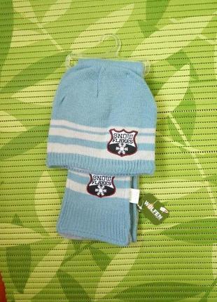 Комплект шарф и шапочка на флисе