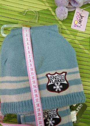 Комплект шарф и шапочка на флисе3 фото