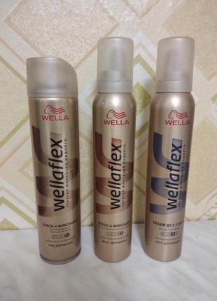 Лак и мусс для волос суперсильной фиксации wellaflex