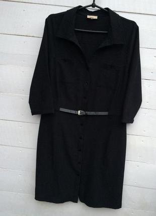 Модное платье миди/футляр,чёрного цвета с поясом!