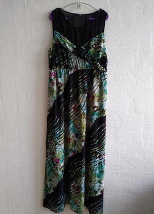 Красивенько длиненькое платьеце на подкладке, бренда george, 48,50,52 р