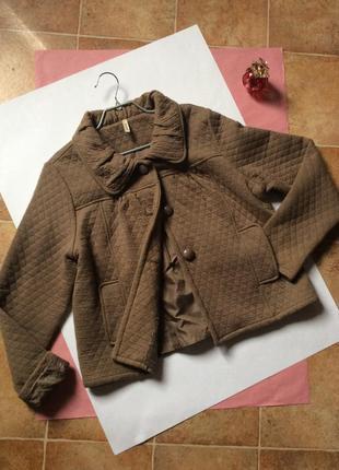 Женская куртка жакет бежевая хлопок100%