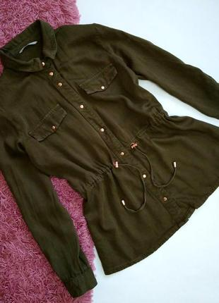 Лёгкая куртка хаки рубашка
