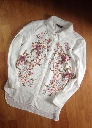 Рубашка с вышивкой f&f