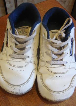 Кроссовки белые кожаные reebok размер 26,5 стелька 16 см