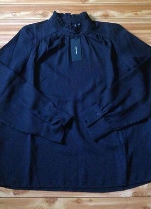 Стильная чёрная блуза,блузка