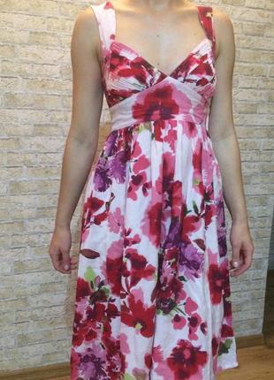 Платье h&m с цветочным принтом xs