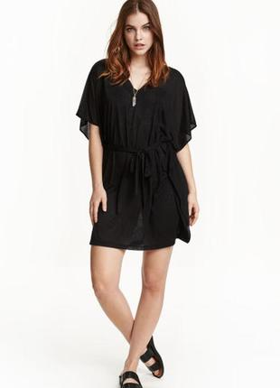 Черное платье h&m пляжная туника
