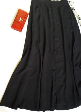 Длинная юбка на пуговицах 100%вискоза