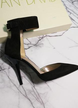 Joan & david оригинал туфли лодочки на шпильке замшевые бренд из сша6 фото