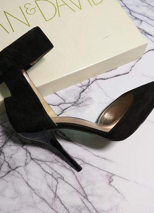 Joan & david оригинал туфли лодочки на шпильке замшевые бренд из сша4 фото
