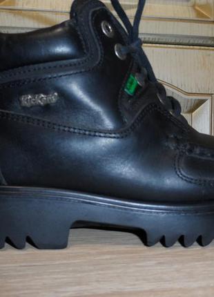 Кожаные ботинки kickers genuine moccasin, оригинал,  37р., 22,5см.