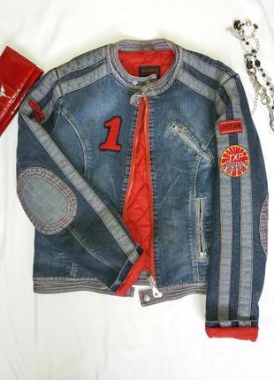 Джинсовая куртка короткая утепленная
