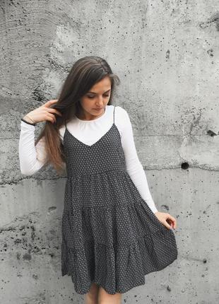 Платье - сарафан h&m / коротке плаття на бретельках сукня