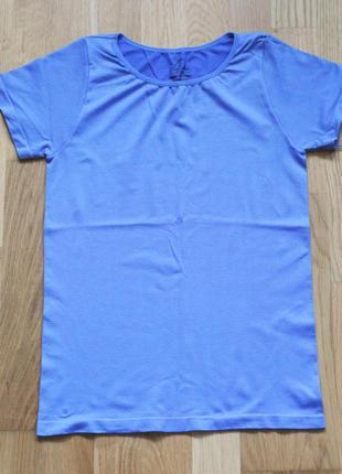 Голубая спортивная футболка р. 36-8-s