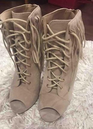 Ботиночки с открытым носком!