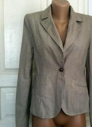 Новый повседневный брендовый пиджак / жакет denim co {размер 38/10/м}