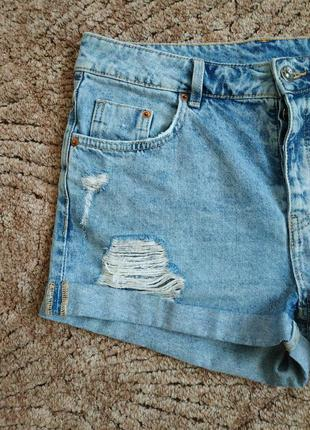 Крутезные джинсовые шорты бойфренд  высокая посадка h&m4 фото