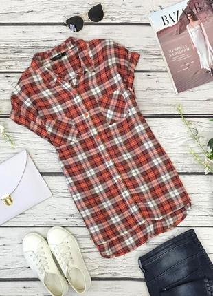 Вискозная блуза-безрукавка в клетку  bl1836003  next