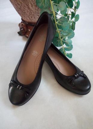 Кожаные туфли балетки от footglove