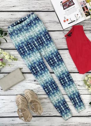 Элегантные укороченные брюки h&m с принтом  pn1836043  h&m