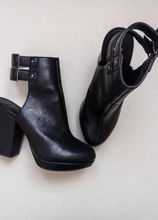 Трендовые ботильоны,ботинки,полусапожки на среднем каблуке