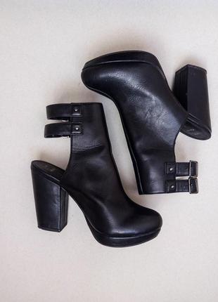 Трендовые ботильоны,ботинки,полусапожки на среднем каблуке2