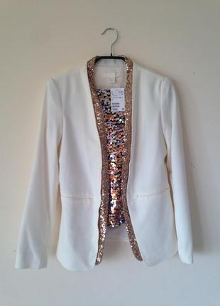 Яркий костюм h&m (пиджак, юбка) l