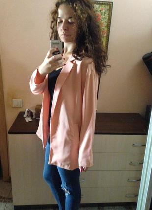 Нежно персиковый пиджак ichi
