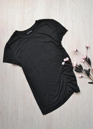 Базовая чёрная футболка из вискозы zara