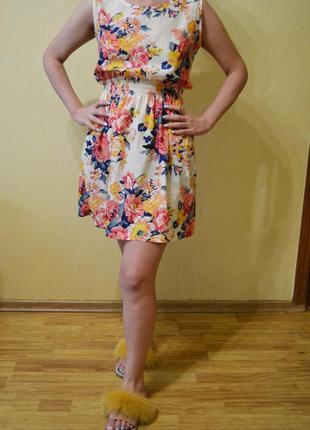 Цветочное платье naf naf