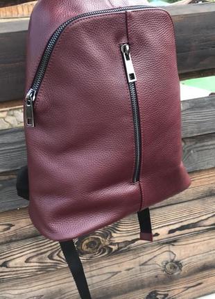 Рюкзак из натуральной мягкой кожи италия  vera pelle