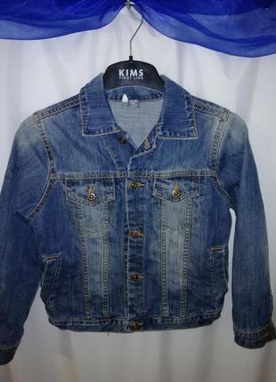 Джинсовая куртка пиджак 6лет