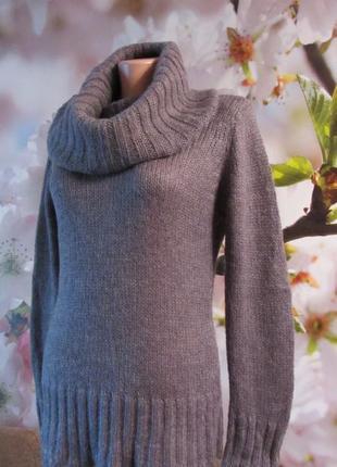 Красивый теплый свитер(30%мохер)