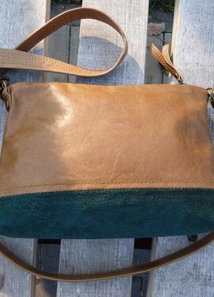 Кожаная сумка через плечо или на пояс