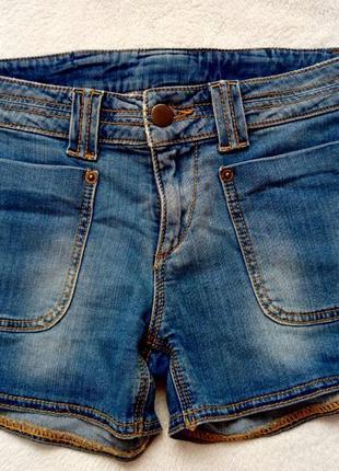 Шорти джинсові, джинсовые шорты, valentino с бантом, короткие