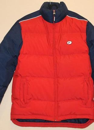 Зимняя куртка (пуховик) nike 100% оригинал. размер xl.