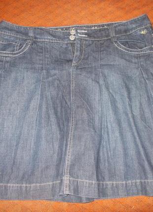 Юбка джинсовая расклешенная esprit