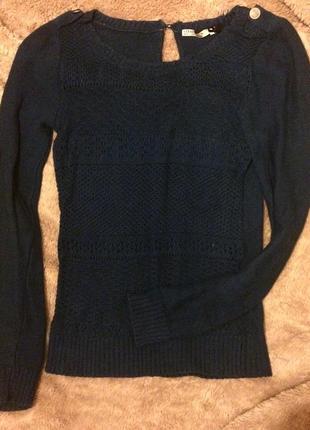 Синяя кофта свитер страдивариус