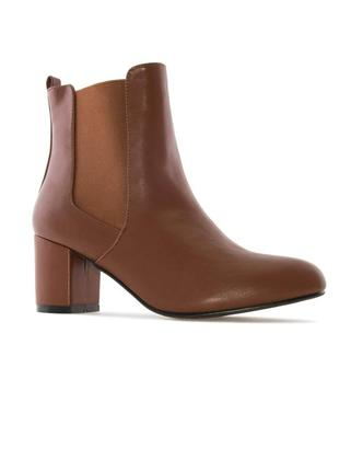 Andres machado оригинал коричневые ботильоны челси широком каблуке