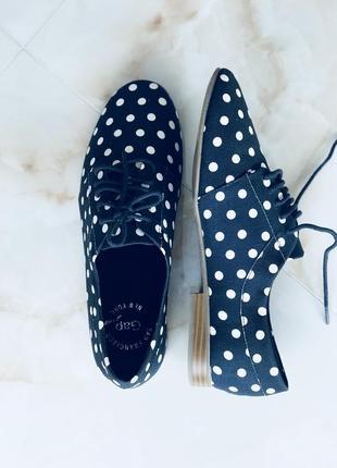 Gap текстильные темно-синее туфли