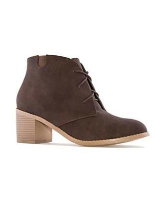 Andres machado оригинал коричневые ботинки на широком каблуке и шнуровке