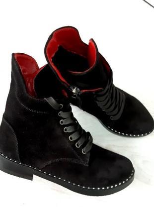 Шикарные ботинки из натурального замша