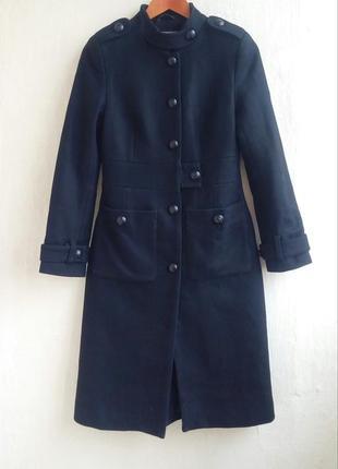 Черное удлиненное демисезонное пальто criminale