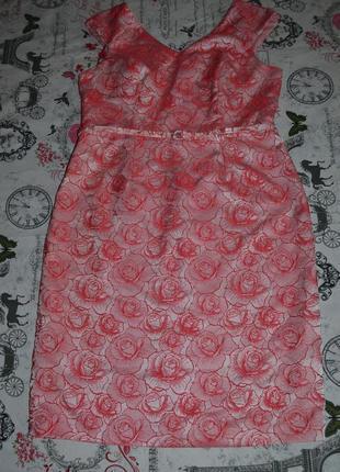 Шикарное платье в розах bhs 16 размер