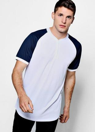 Базовая двухцветная футболка boohoo man