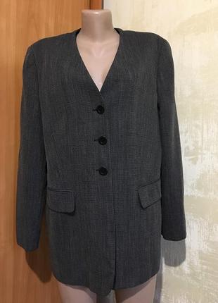 Роскошный шерстяной жакет,пиджак «elena miro»