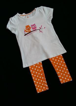 Пижама/комплект для дома lupilu (германия) на 2-4 годика