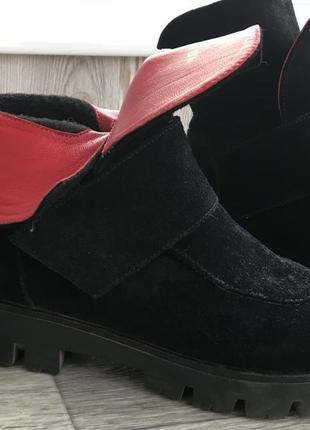 Стильные молодежные ботинки на платформе